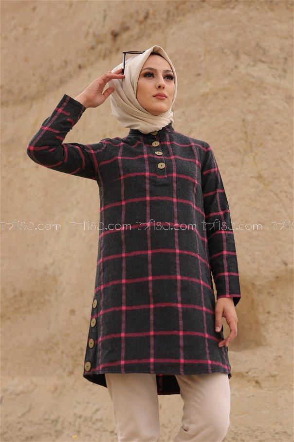 Tunik Antrasit Fusya - 3306
