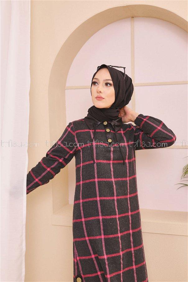 Tunik Antrasit Fusya - 8635