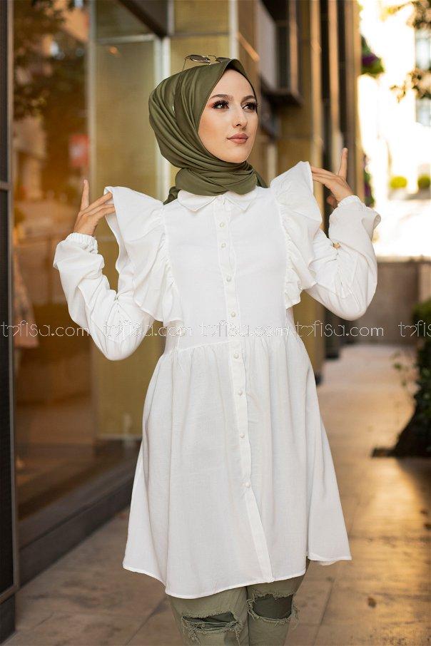 Tunik Beyaz - 9059