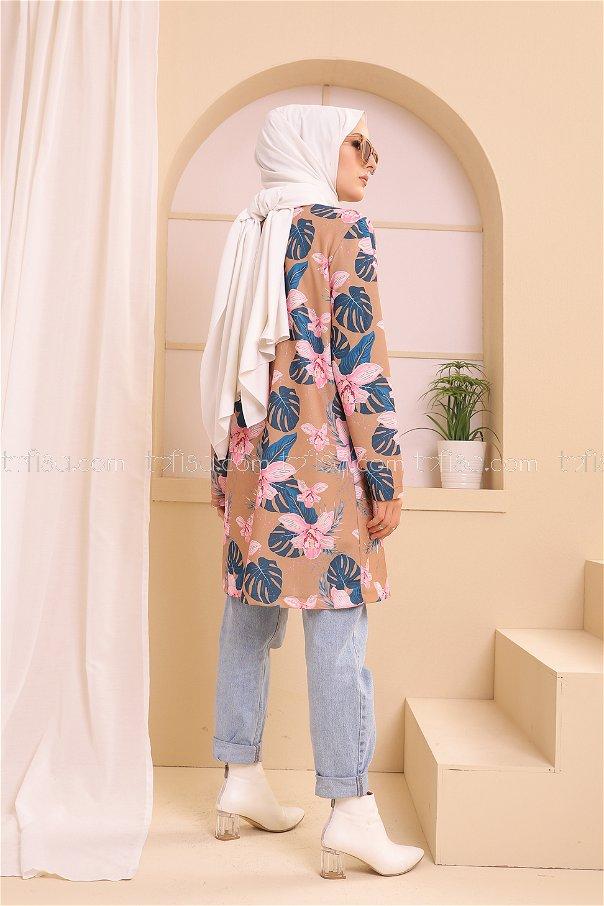 Tunik Ceket Vizon - 9116