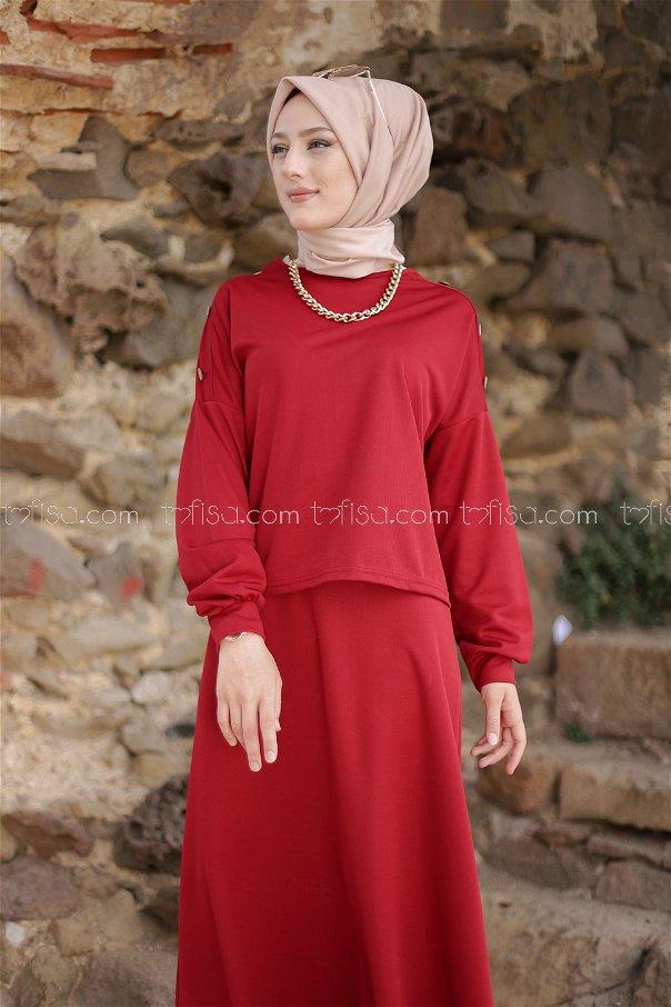 Tunik Etek Kırmızı - 3120
