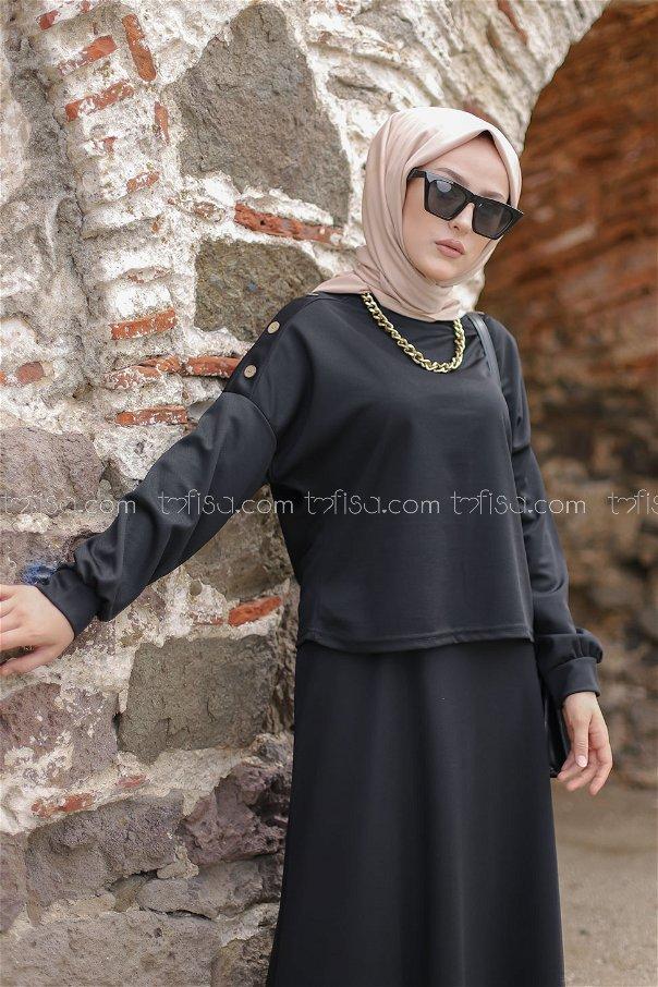 Tunik Etek Siyah - 3120
