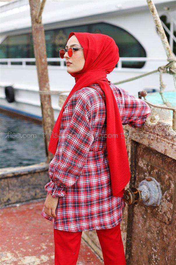 Tunik Lacivert Kırmızı - 3299