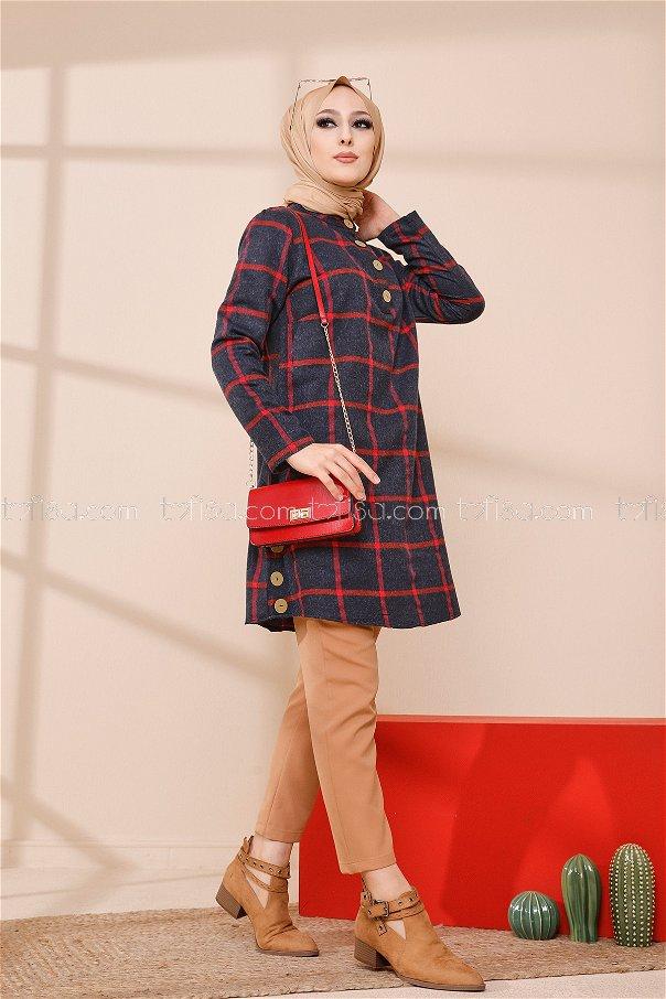 Tunik Lacivert Kırmızı - 3306