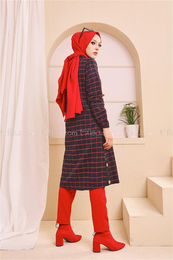 Tunik Lacivert Kırmızı - 3310