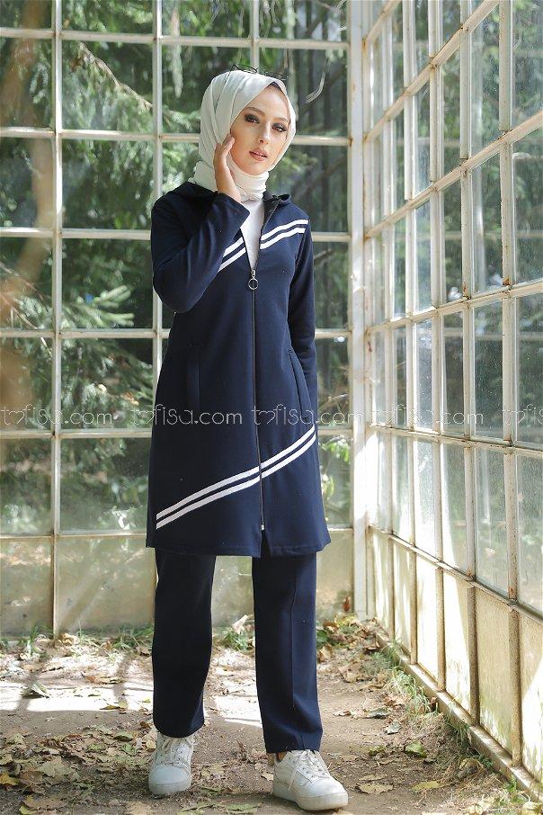 Tunik Pantolon Lacivert - 4117