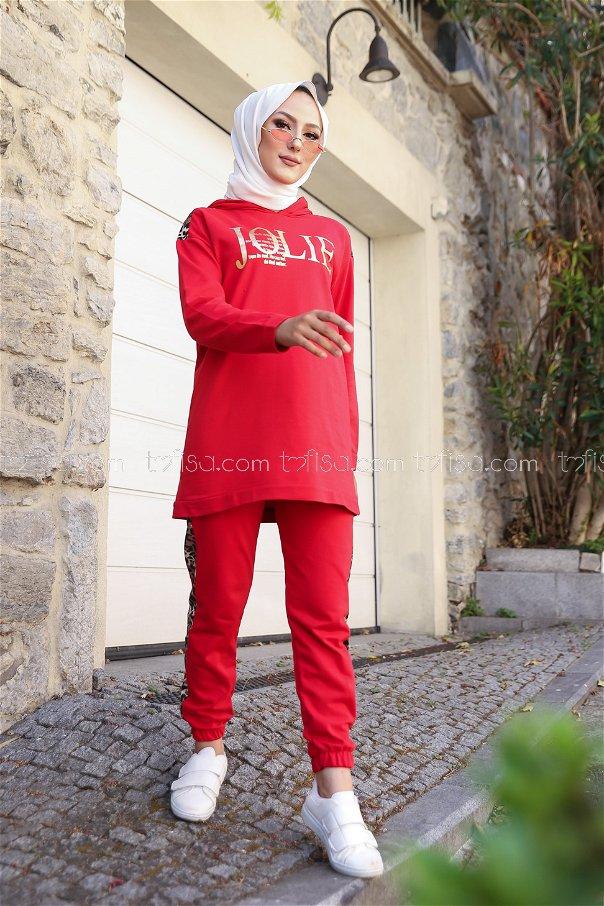 Tunik Pantolon Kırmızı - 8328