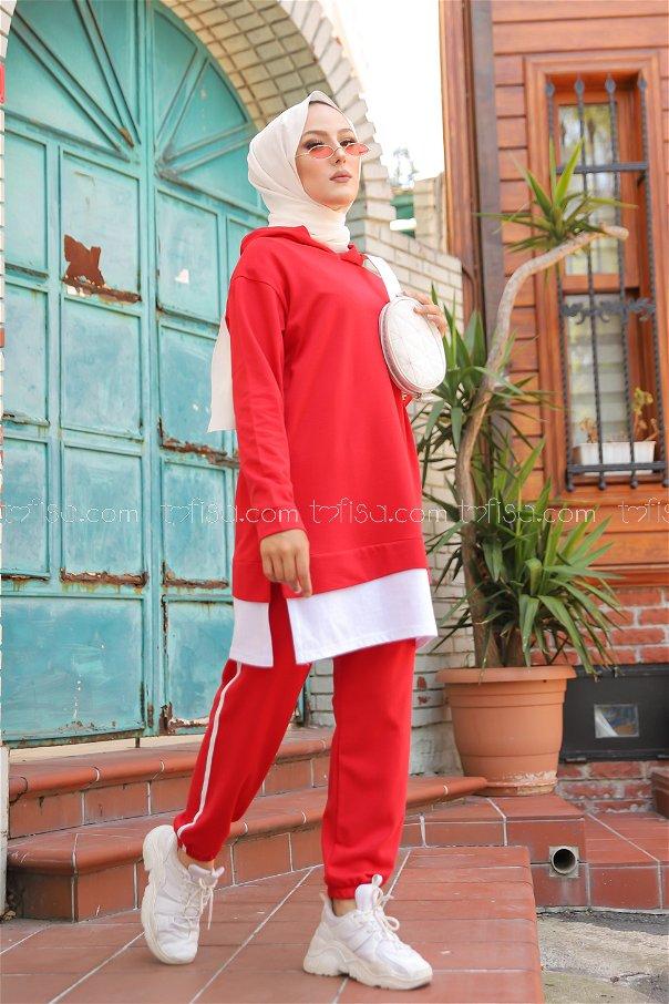 Tunik Pantolon Kırmızı -8330
