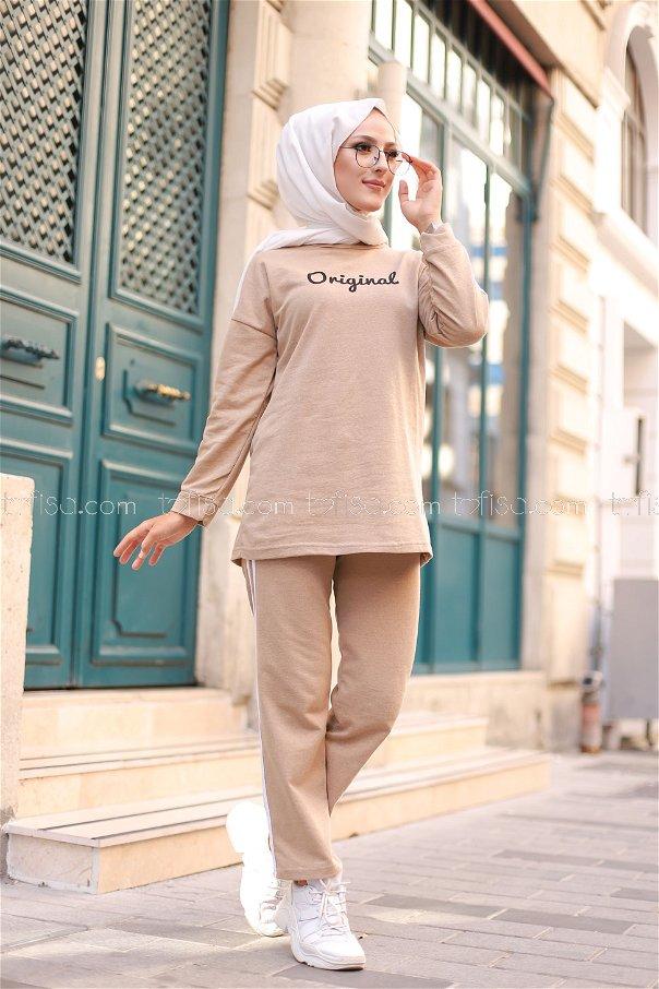 Tunik Pantolon Bej - 8401