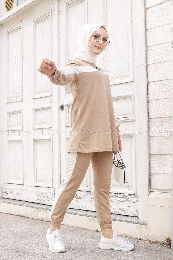 Tunik Pantolon Bej - 8412