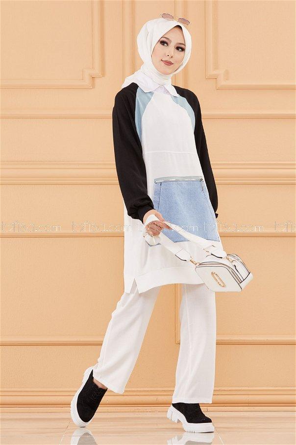 Tunık Pantolon BEYAZ - 20651