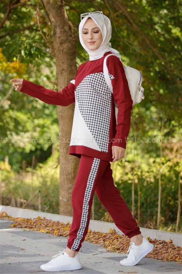 Tunık pantolon BORDO - 8829