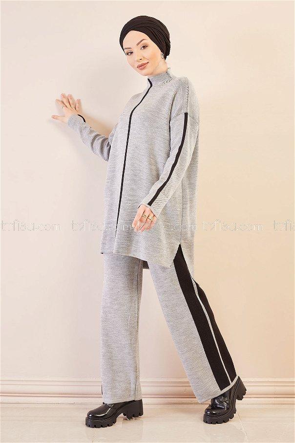 Tunık Pantolon GRI SIYAH - 20699