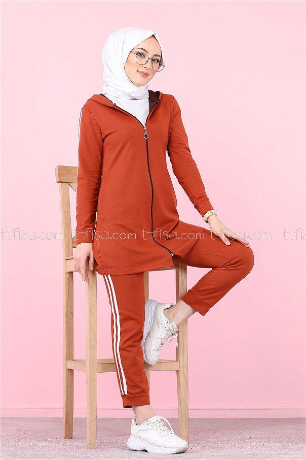 Tunik Pantolon Kiremit - 4126