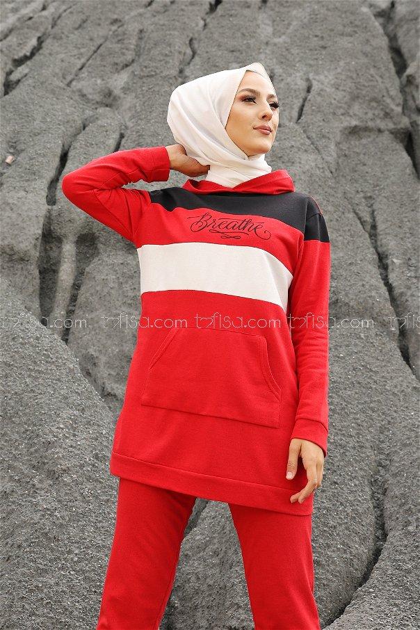 Tunik Pantolon Kırmızı - 2813
