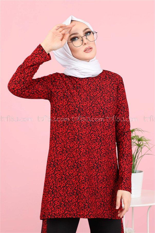Tunik Pantolon Kırmızı - 3073