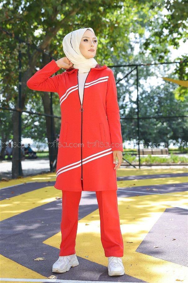 Tunik Pantolon Kırmızı - 4117