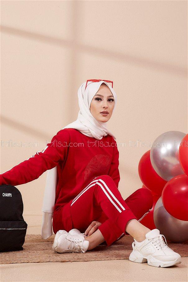 Tunik Pantolon Kırmızı - 4139