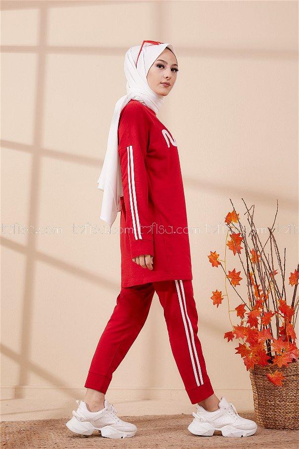 Tunik Pantolon Kırmızı - 4141
