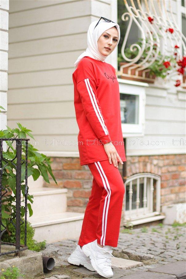 Tunik Pantolon Kırmızı - 8401