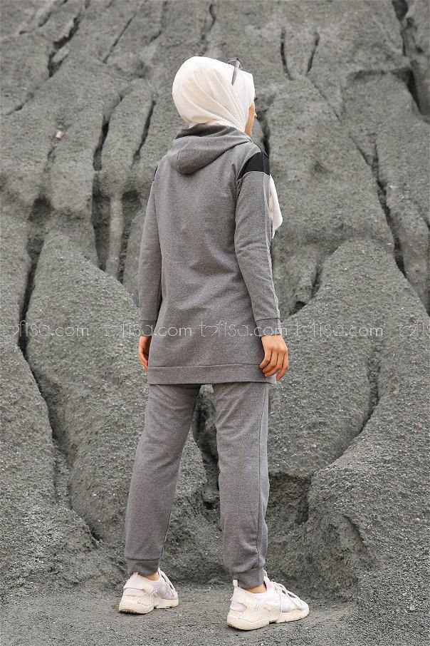 Tunik Pantolon Koyu Gri - 2813