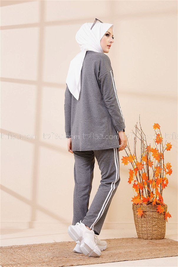 Tunik Pantolon Koyu Gri - 8401