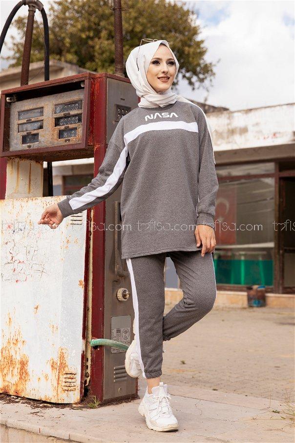Tunik Pantolon Koyu Gri - 8412