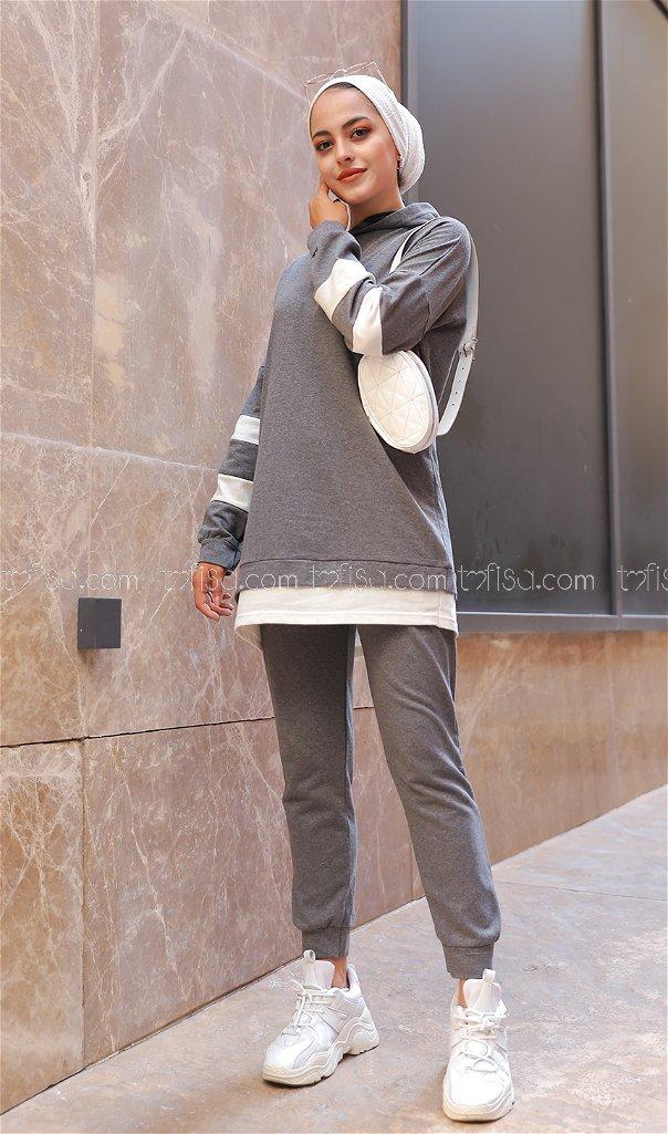 Tunik Pantolon Koyu.Gri - 3024