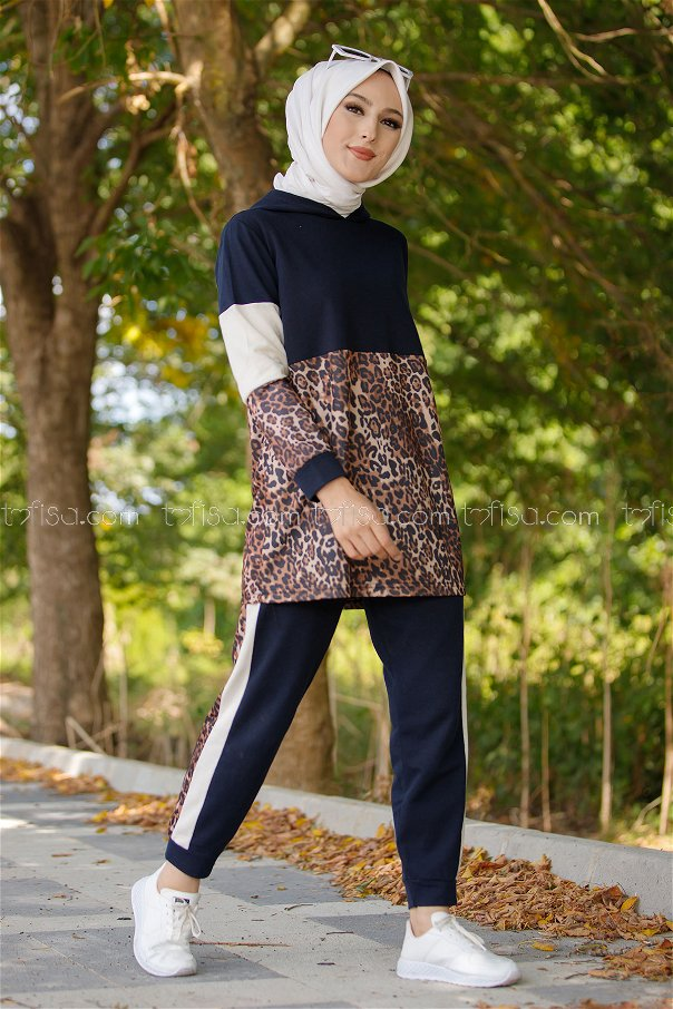 Tunik Pantolon Lacivert - 1361