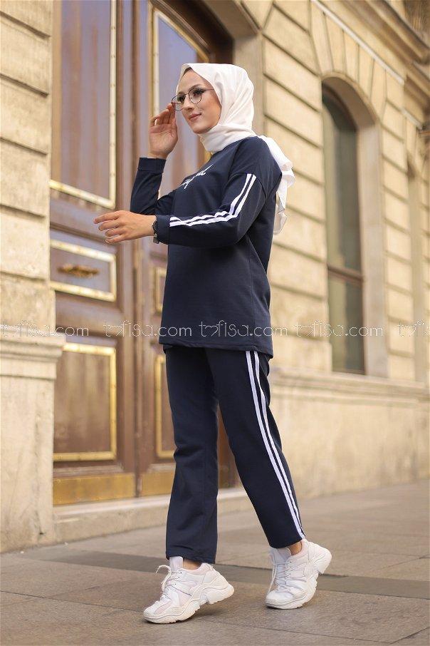 Tunik Pantolon Lacivert - 8401