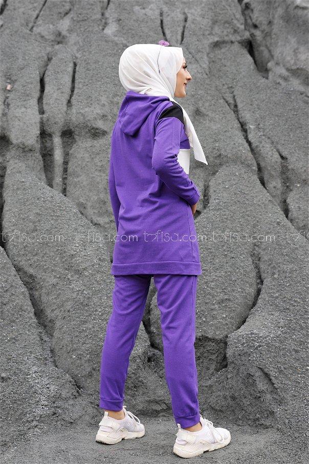 Tunik Pantolon Mor - 2813