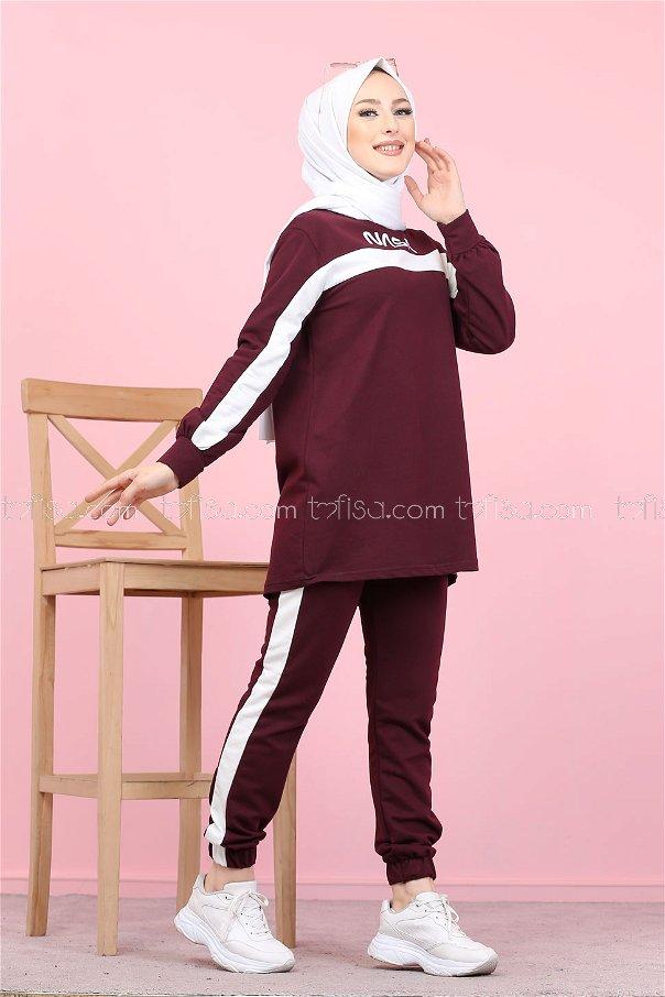Tunik Pantolon Mor - 8412