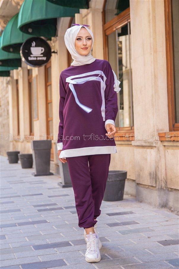 Tunik Pantolon Mürdüm - 3245