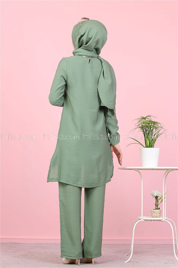 Tunik Pantolon Şal Haki - 3030