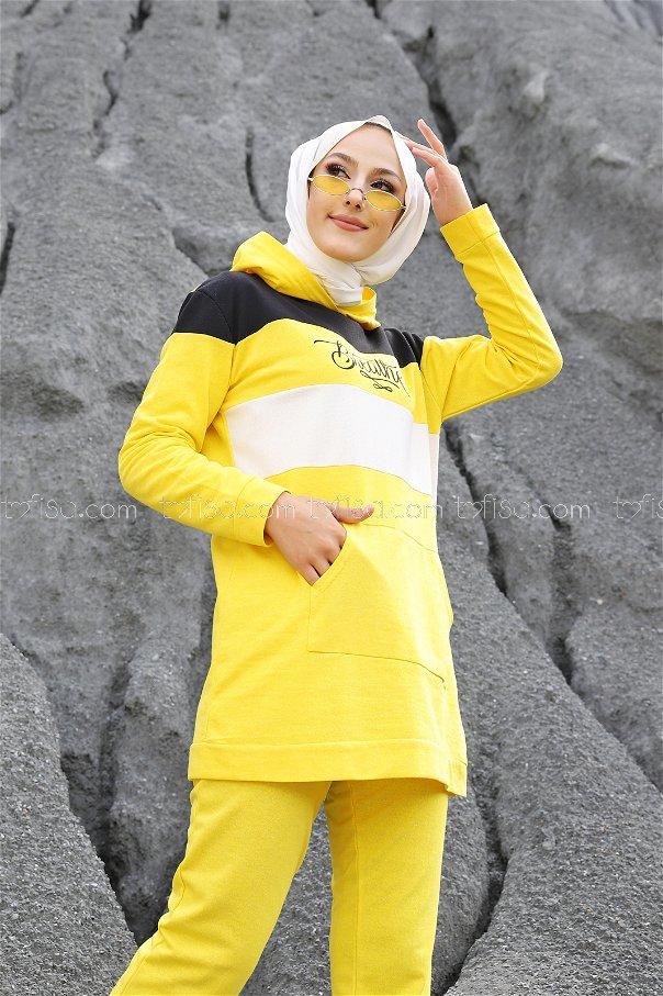 Tunik Pantolon Sarı - 2813