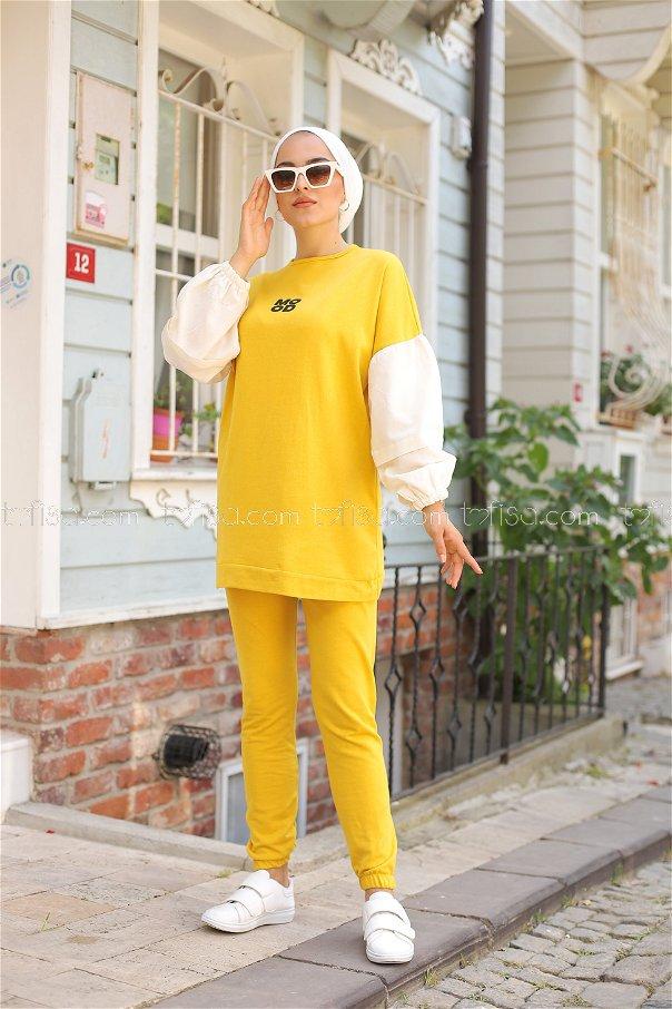 Tunik Pantolon Sarı - 3087