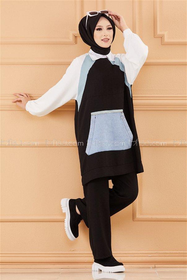 Tunık Pantolon SIYAH - 20651