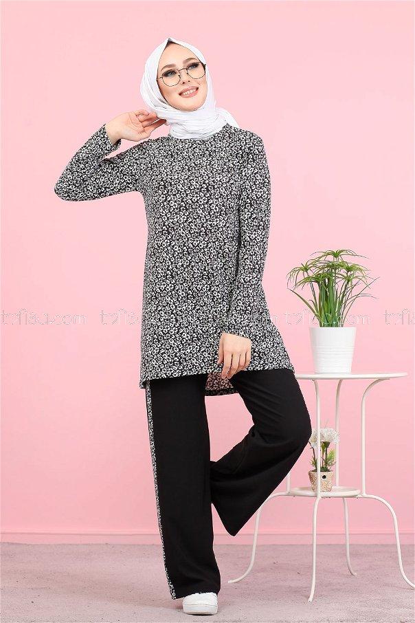 Tunik Pantolon Siyah - 3073
