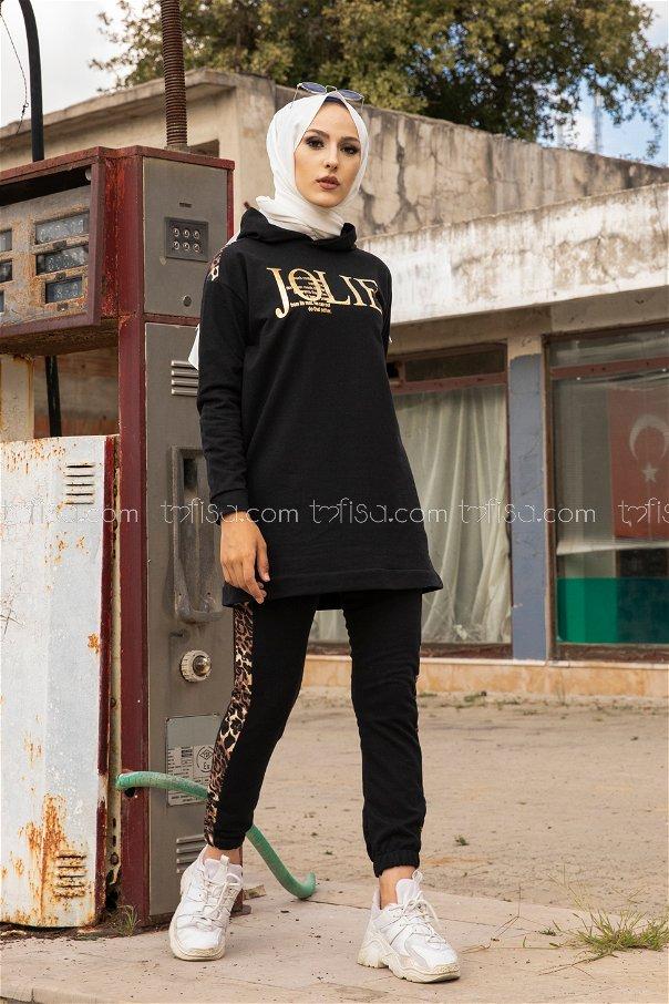 Tunik Pantolon Siyah - 8328