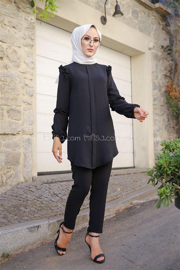 Tunik Pantolon Siyah - 9043