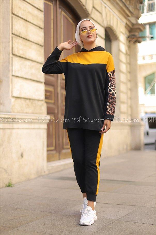 Tunik Pantolon Siyah Hardal - 3095
