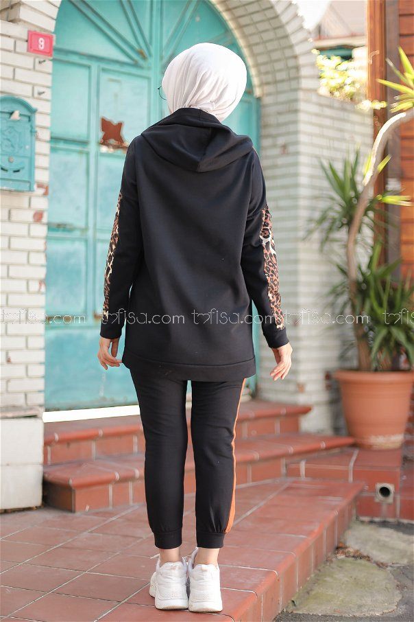 Tunik Pantolon Siyah.Kahve - 3095
