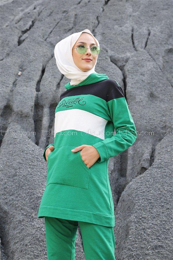 Tunik Pantolon Yeşil - 2813