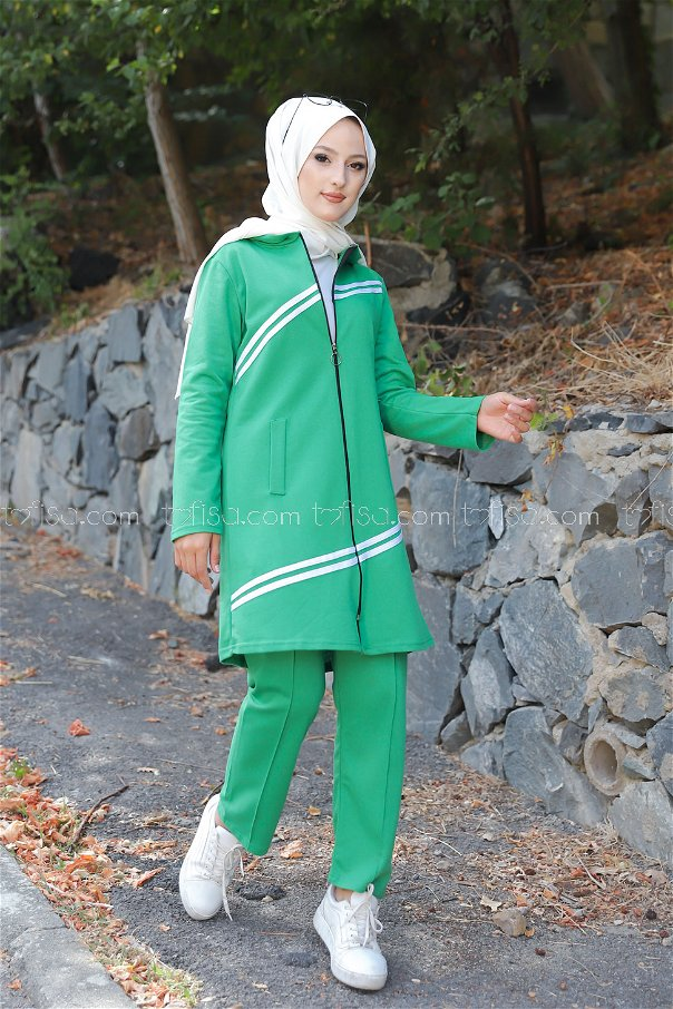 Tunik Pantolon Yeşil - 4117