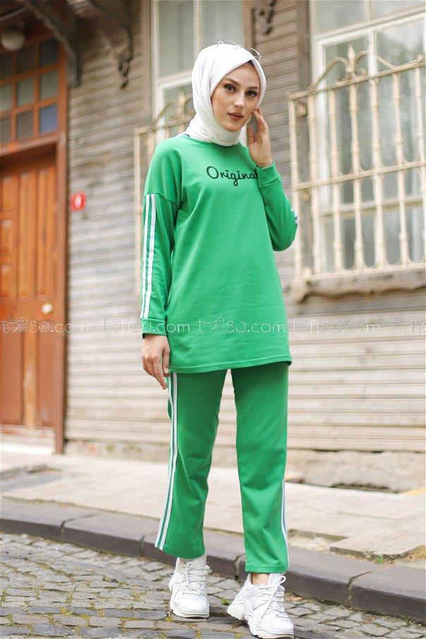 Tunik Pantolon Yeşil - 8401