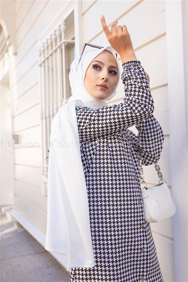 Tunik Siyah Beyaz - 3295