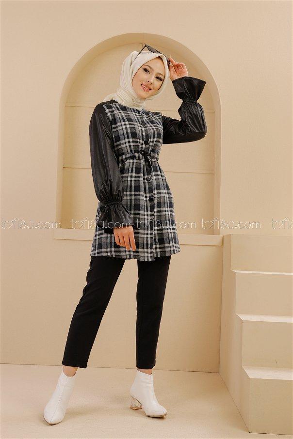 Tunik Siyah Gri - 9104