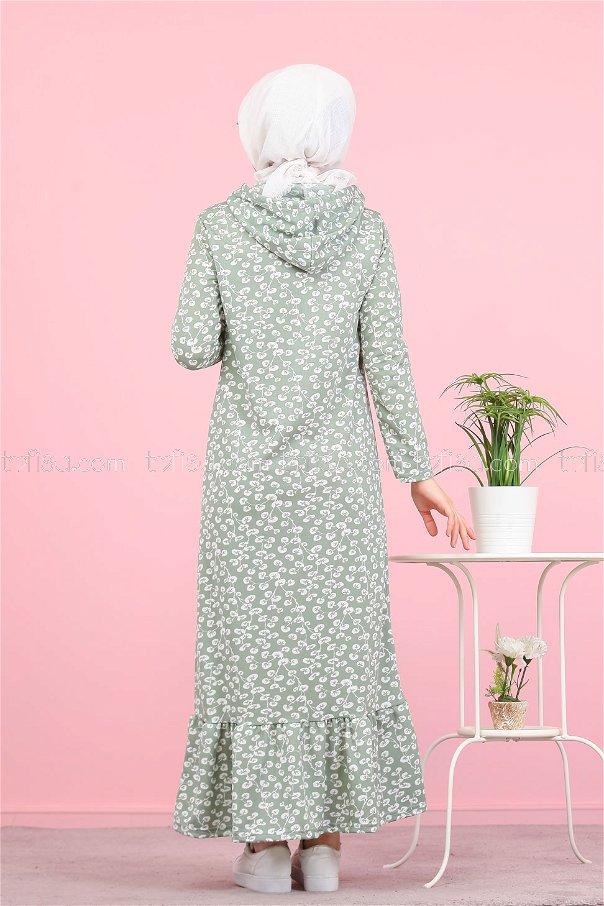 Volanlı Elbise Mint - 2805