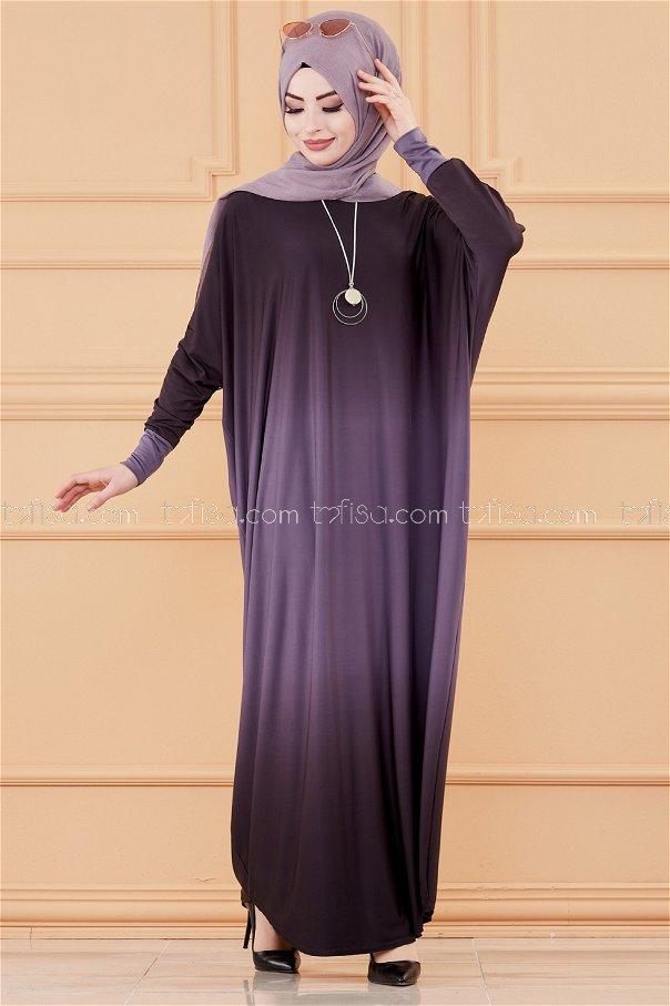 Yarasa Kol Elbise LILA - 20034
