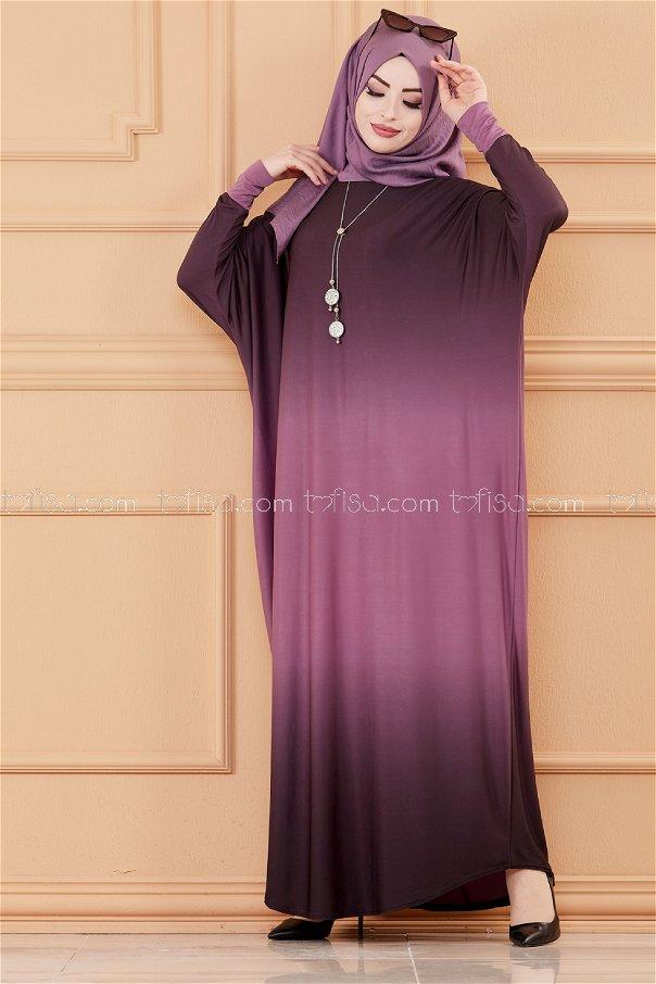 Yarasa Kol Elbise MOR - 20034